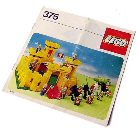 lego bauanleitung ba 375 gelbe ritterburg castle ebay. Black Bedroom Furniture Sets. Home Design Ideas